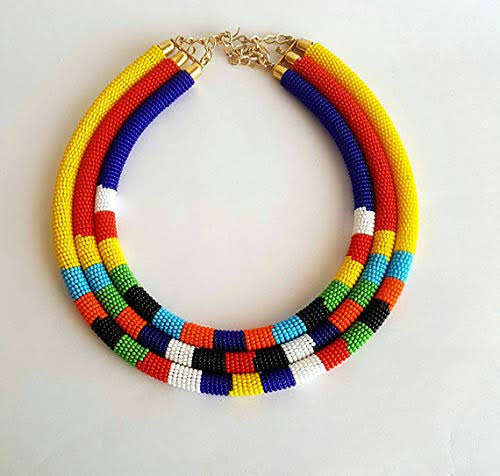 Learn how to make a traditional Maasai beaded necklace