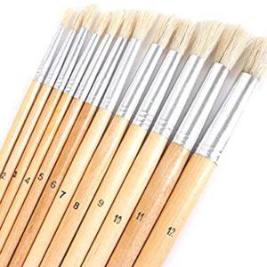 12 Pcs Long Paint Brushes