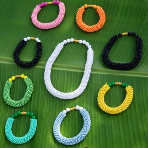 Rainbow Necklace & Bracelet Set